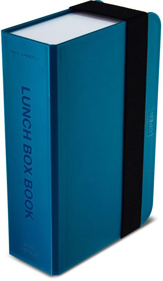 Ланч-бокс Black+Blum Box Book, цвет: бирюзовый, 6,8 х 22,5 х 15BK-LB005Оригинальный ланч-бокс в виде книги. Вместительный контейнер позволяет брать с собой не только еду, но и небольшую бутылку любимого напитка. Во внутренней части предусмотрен съемный пластиковый разделитель, который необходим для разграничения порций или видов пищи. Скругленная форма углов придает дизайну дополнительную изюминку - такой необычный ланч-бокс станет хорошим подарком для всех ценителей здорового образа жизни.Изделие дополнено эластичным держателем, плотно фиксирующим крышку и лоток. Модель изготовлена из полипропилена, в составе отсутствуют вредные BPА. Крышка бокса откидывается, ее можно использовать в качестве тарелки или подставки для еды.