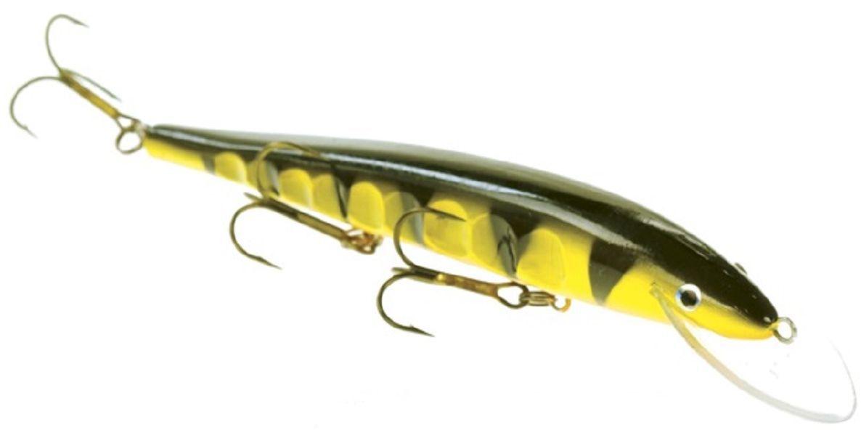 Воблер Atemi Esa, цвет: зеленый, желтый, длина 17 см, вес 20 г509-ESA002Воблер Atemi Esa изготовлен из высококачественного пластика и отличается яркой расцветкой. Три тройника не дадут ускользнуть самой верткой рыбе. 3D глаза и чешуйчатая перфорация по бокам воблера придают ему еще большую схожесть с настоящей рыбкой. Рекомендуется для ловли щуки, окуня, форели, басса, язя, голавля, желтоперого судака, жереха.Заглубление: 3 м.Какая приманка для спиннинга лучше. Статья OZON Гид