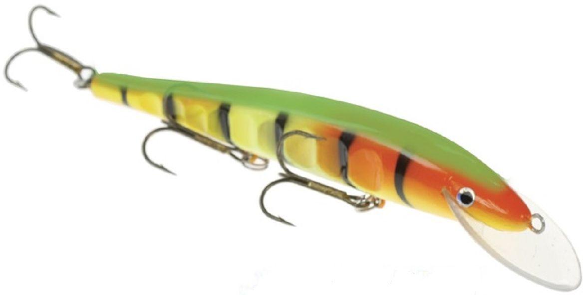 Воблер Atemi Esa, цвет: светло-зеленый, желтый, длина 17 см, вес 20 г509-ESA004Воблер Atemi Esa изготовлен из высококачественного пластика и отличается яркой расцветкой. Три тройника не дадут ускользнуть самой верткой рыбе. 3D глаза и чешуйчатая перфорация по бокам воблера придают ему еще большую схожесть с настоящей рыбкой. Рекомендуется для ловли щуки, окуня, форели, басса, язя, голавля, желтоперого судака, жереха.Заглубление: 3 м.