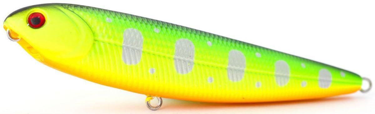 Воблер плавающий Atemi Sugar Pencil, цвет: fire tiger, длина 10 см, вес 10 г513-00011Плавающий воблер Atemi Sugar Pencil является наилучшей приманкой как для троллинга, так и для ловли в заброс. Он также хорошо работает при ловле рыбы против течения. Рекомендуется для ловли - щуки, окуня, форели, басса, язя, голавля, желтоперого судака, жереха.Проводите по более глубоким местам, в местах сбора кормовой базы хищних рыб.Во время максимальной активности рыб, лучше брать ярко окрашенную приманку, которая будет выделяться в толще воды и сразу бросится хищнику в глаза.Если у хищника плохой аппетит, то расцветка должна быть максимально близкой к расцветке кормовой рыбы.Какая приманка для спиннинга лучше. Статья OZON Гид