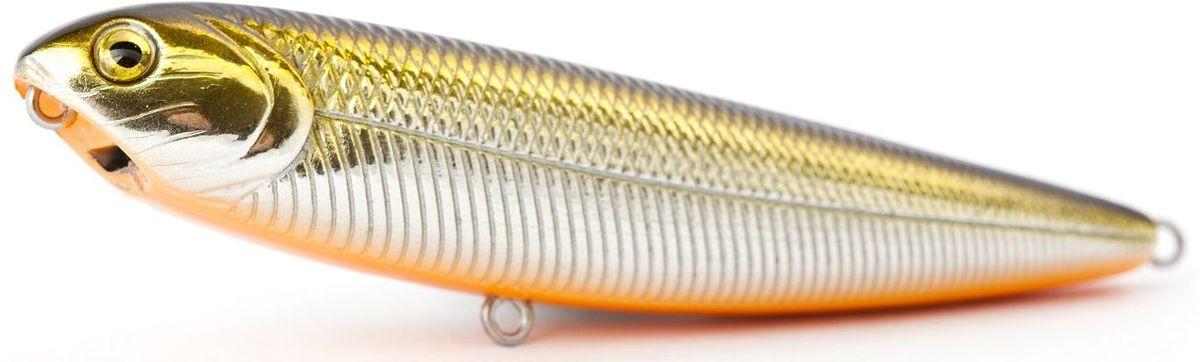 Воблер плавающий Atemi Sugar Pencil, цвет: gold shad, длина 10 см, вес 10 г513-00014Плавающий воблер Atemi Sugar Pencil является наилучшей приманкой как для троллинга, так и для ловли в заброс. Он также хорошо работает при ловле рыбы против течения. Рекомендуется для ловли - щуки, окуня, форели, басса, язя, голавля, желтоперого судака, жереха.Проводите по более глубоким местам, в местах сбора кормовой базы хищних рыб.Во время максимальной активности рыб, лучше брать ярко окрашенную приманку, которая будет выделяться в толще воды и сразу бросится хищнику в глаза.Если у хищника плохой аппетит, то расцветка должна быть максимально близкой к расцветке кормовой рыбы.Какая приманка для спиннинга лучше. Статья OZON Гид