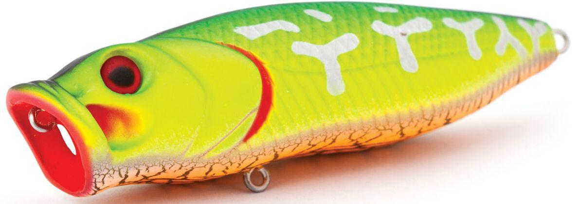 Воблер плавающий Atemi Crazy Pop, цвет: fire tiger, длина 8 см, вес 16 г какую леску для ловли сороги зимой
