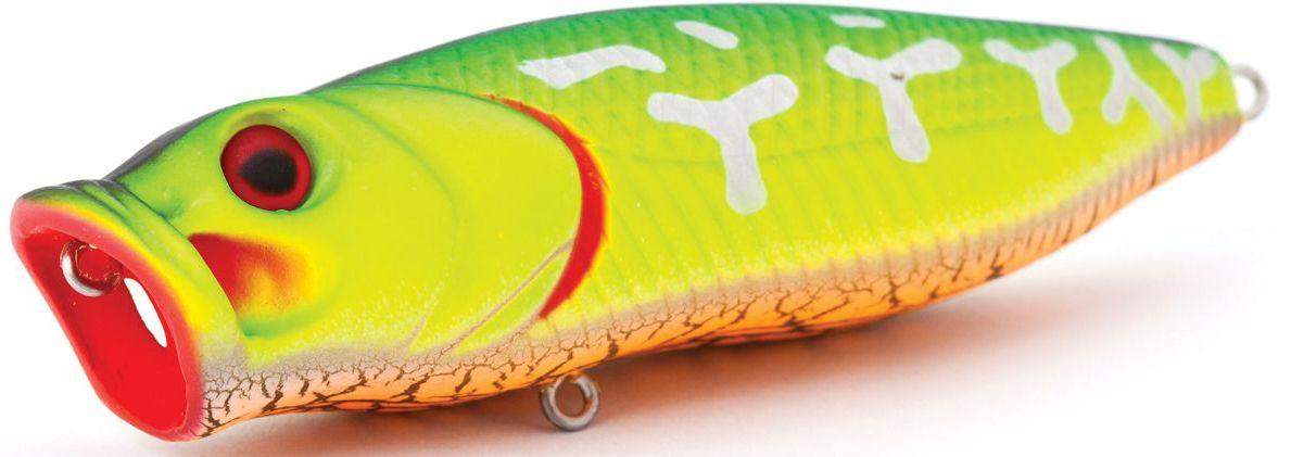 Воблер плавающий Atemi Crazy Pop, цвет: fire tiger, длина 11,5 см, вес 29 г513-00028Плавающий воблер Atemi Crazy Pop является наилучшей приманкой как для троллинга, так и для ловли в заброс. Рекомендуется для ловли щуки, окуня, форели, басса, язя, голавля, желтоперого судака, жереха. Эта приманка превосходна для ловли рыбы, если ее забрасывать вверх по течению, только обеспечивайте скорость проводки немного быстрее, чем скорость течения. Она также хорошо работает при ловле рыбы против течения, проводите приманку по более глубоким местам, там, где чаще стоят в засаде более крупные экземпляры. Необходимое условие для ловли на Atemi Crazy Pop - чтобы вы использовали правильно подобранную снасть: легкий и чувствительный спиннинг, крошечные застежки и вертлюжки, самую тонкую леску, которой сможете управлять приманкой, чтобы обеспечить ей наилучшую работу.Какая приманка для спиннинга лучше. Статья OZON Гид