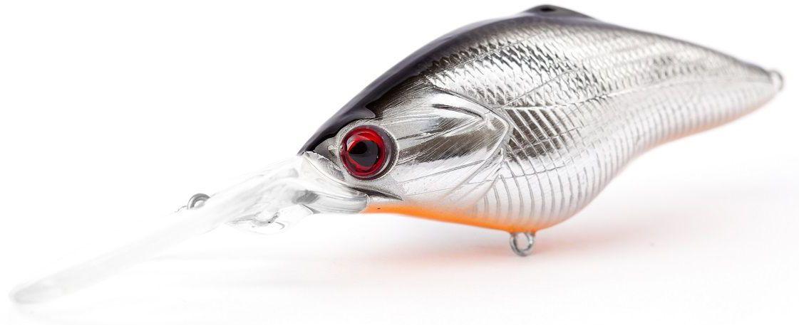 Воблер плавающий Atemi Power Crank, цвет: Silver Black, длина 6,5 см, вес 14,5 г, заглубление 3,5 м513-00031Воблер плавающий Atemi Power Crank отлично подходит для ловли крупных особей хищных пород рыб. Его крупный размер позволяет привлечь рыб на расстоянии до нескольких метров. Приманки такого типа просто предмет первой необходимости для рыбалки на пресных водоемах.Рекомендуется для ловли - щуки, окуня, форели, басса, язя, голавля, желтоперого судака, жереха. Размер: 6,5 см.Вес: 4,5 г. Заглубление: 3,5 м.