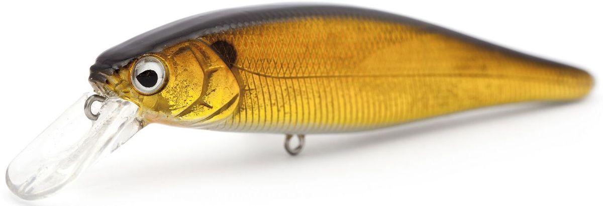 Воблер суспендер Atemi Quesy, цвет: gold haya, длина 10 см, вес 16 г, заглубление 1,5 м513-00090Воблер Atemi Quesy подходит для ловли на отмелях. Эта модель приманки имеет нейтральную плавучесть, что позволяет зависать приманке в толще воды. Такой способ рыбалки позволяет привлечь пассивную рыбу, которая плохо реагирует на активную проводку. Воблер имитирует неподвижную рыбку, что заставляет пассивную рыбу выйти на охоту. Рекомендуется для ловли щуки, окуня, форели, басса, язя, голавля, желтоперого судака, жереха.Заглубление: 1,5 м.Какая приманка для спиннинга лучше. Статья OZON Гид