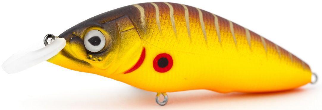Воблер плавающий Atemi Black Widow One, цвет: mat tiger, длина 6,5 см, вес 8,5 г, заглубление 1 м513-00125Приманка Atemi Black Widow One - яркая и качественная приманка, которая рекомендуется для ловли щуки, форели, басса, голавля, жереха, желтоперого судака, окуня. Эта легкая приманка может использоваться для ловли рыбы вверх по течению, если обеспечить более высокую, нежели скорость течения, скорость проводки. Воблер также может использоваться и при ловле против течения.Заглублиние: 1 м.Какая приманка для спиннинга лучше. Статья OZON Гид