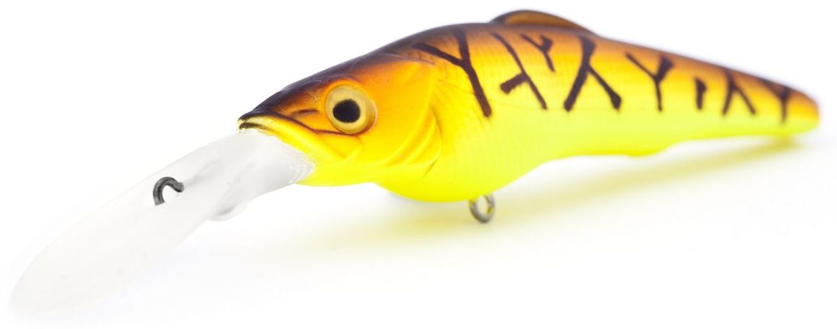 Воблер плавающий Atemi Cayman Shad, цвет: red tiger, длина 9 см, вес 16 г, заглубление 4,5 м воблер atemi quesy 100mm 16 5g red smolt 513 00047