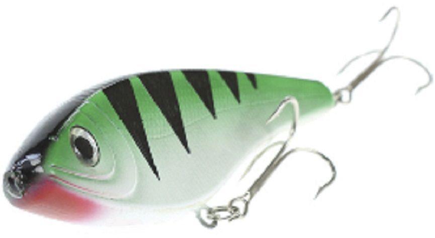 Джеркбейт Blind Derky Jerk, цвет: зеленый, черный, длина 15 см, вес 70 гBKY-15002Джеркбейт Blind Derky Jerk - это приманка, для которой характерна проводка с чередованием рывков и остановок, в противном случае изделие из-за большого веса и размера пойдет ко дну. Подобная скачкообразная игра привлекает хищных рыб и выманивает их с глубины. Рекомендуется для ловли - щуки, окуня, форели, басса, язя, голавля, желтоперого судака, жереха.Какая приманка для спиннинга лучше. Статья OZON Гид
