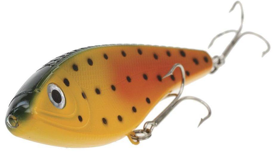Джеркбейт Blind Derky Jerk, цвет: оранжевый, желтый, черный, длина 15 см, вес 70 гBKY-15004Джеркбейт Blind Derky Jerk - это приманка, для которой характерна проводка с чередованием рывков и остановок, в противном случае изделие из-за большого веса и размера пойдет ко дну. Подобная скачкообразная игра привлекает хищных рыб и выманивает их с глубины. Рекомендуется для ловли - щуки, окуня, форели, басса, язя, голавля, желтоперого судака, жереха.Какая приманка для спиннинга лучше. Статья OZON Гид