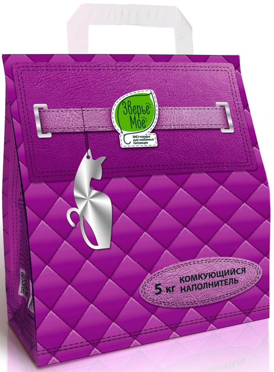 Наполнитель для кошачьих туалетов Зверье Мое, комкующийся,  5 кг ( 4,5 л) наполнитель для кошачьих туалетов кошкин секрет древесный 2 5 кг