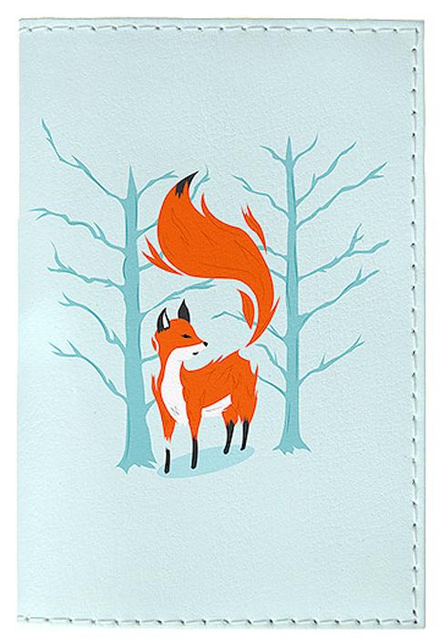 Обложка для паспорта женская Mitya Veselkov Лиса в лесу, цвет: голубой. OZAM416ВинилКачественная обложка Mitya Veselkov Лиса в лесу выполнена из приятного на ощупь винила. Рисунок нанесён специальным образом и защищён отстирания. Изделие раскладывается пополам.Яркий современный дизайн, который являетсяосновной фишкой данной модели, будет радовать глаз.