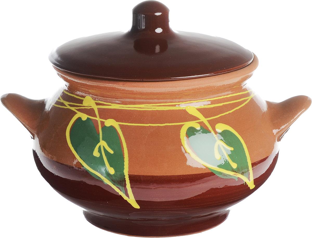 Горшок для жаркого Борисовская керамика Русский, с ручками, 0,95 л. ОБЧ00000371