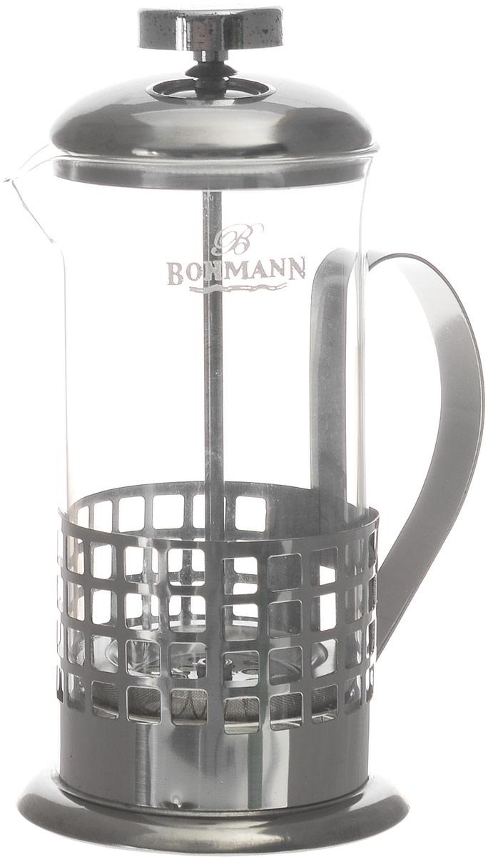 Френч-пресс Bohmann Квадраты, 350 мл9535BH_квадратыФренч-пресс Bohmann Квадраты используется для заваривания крупнолистового чая, кофе среднего помола, травяных сборов. Изготовлен из высококачественной нержавеющей стали и термостойкого стекла, выдерживающего высокую температуру, что придает ему надежность и долговечность. Френч-пресс Bohmann Квадраты незаменим для любителей чая и кофе.Можно мыть в посудомоечной машине.Объем: 350 мл.Высота (с учетом крышки): 18 см.Диаметр (по верхнему краю): 7,5 см.