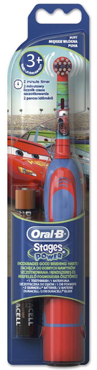 Braun Oral-B Stages Power DB4.510K Тачки детская электрическая зубная щеткаDB4010(DB4.510)Oral-B – марка зубных щеток №1, используемая большинством стоматологов мира!** на основании международных опросов P&G среди репрезентативной выборки стоматологов, проводимых регулярно, в т.ч. 2013-2015 гг.Зубная щетка на батарейках - самая доступная из зубных щеток Oral-B с возвратно-вращательной технологией.Подходит для детей с 3 лет.Комплектуется сменной насадкой Oral-B Stages с укороченными экстрамягкими щетинками.