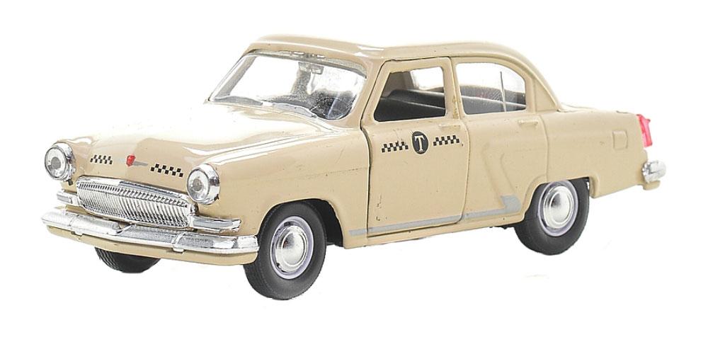 Autotime Модель автомобиля ГАЗ-21 Волга Такси цвет бежевый autotime модель автомобиля уаз 31514 советская милиция