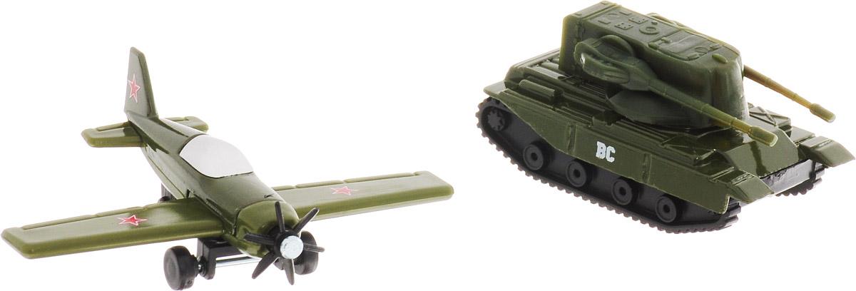 ТехноПарк Набор машинок Военная техника 2 шт 20215-R