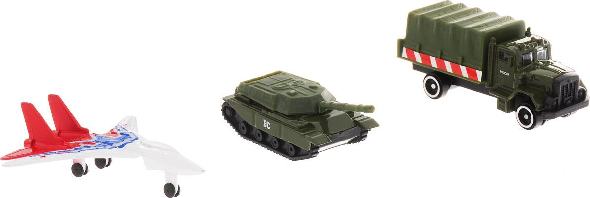 ТехноПарк Набор машинок Военная техника 3 шт 20315-R