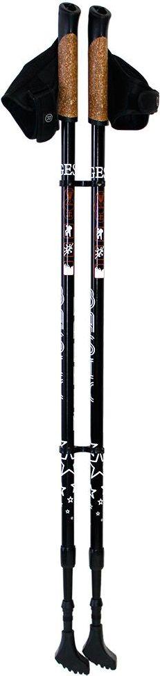 Палки для скандинавской ходьбы Gess Basic Walker, телескопические, 2 секции, цвет: черный, длина 80-135 см, 2 штGESS-919Палки для скандинавской ходьбы Gess Basic Walker помогут вам поддерживать хорошую физическую форму, не перегружая суставы и мышцы. Двухсекционные палки выполнены из сплава алюминия 6061, ручки сделаны из композитной смеси пробки с полиуретаном, они имеют страховочные ремешки. Особенности: • Ультракомпактные - 80 см в сложенном виде; • Вес 600 г без упаковки; • Встроенный амортизатор антишок. Длина палки: от 80 до 135 см. Рост человека: от 140 до 195 см. Материал наконечника: победитовый сплав. Допустимый диапазон температуры: от -70°С до + 50°С.Как выбрать инвентарь для скандинавской ходьбы. Статья OZON Гид