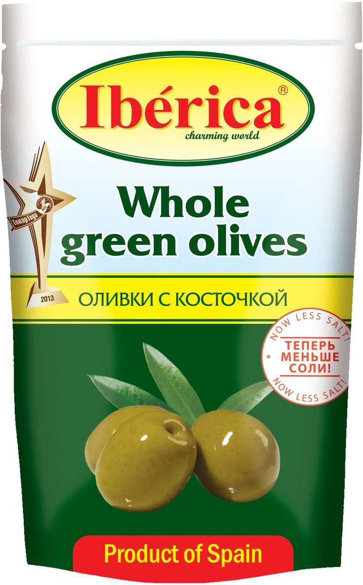 Iberica Оливки с косточкой, 170 г guerola оливки сорта арбекина с косточкой 370 г