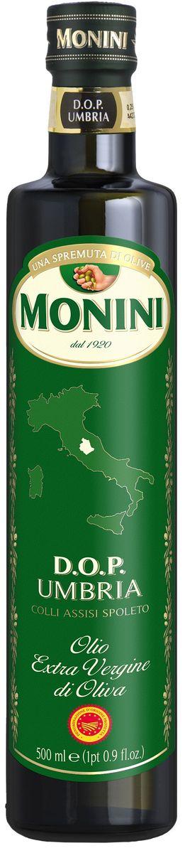 Monini масло оливковое Extra Virgin Умбро, 500 мл1610009/2Выработано из отборных оливок, собранных вручную, в провинции UMBRO.