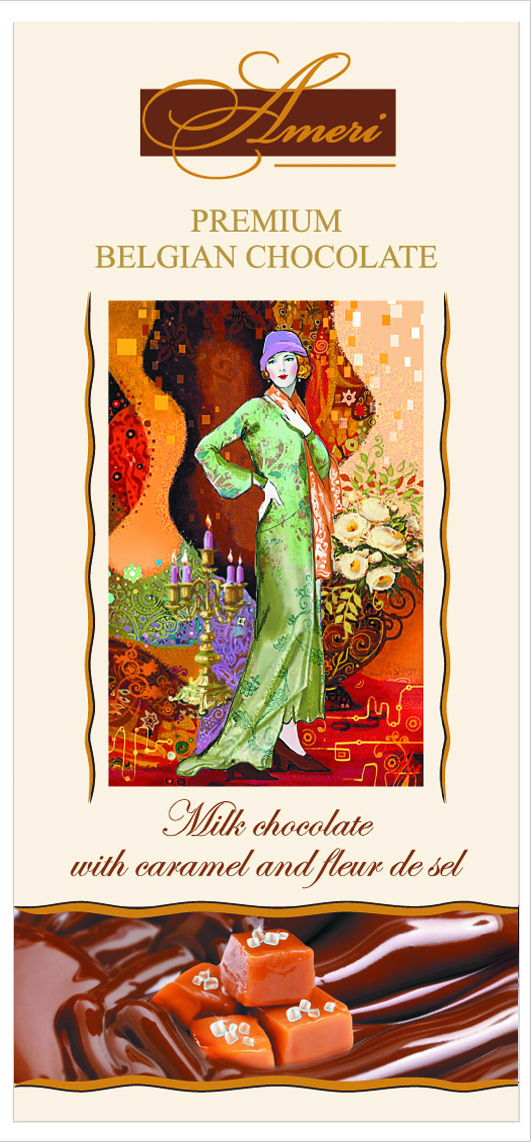 Ameri Молочный шоколад с карамелью и морской солью, 100 г0910108/2Торговая марка Амери, производящая изысканный сладкий ассортимент, знакома всем любителям темного шоколада. Все гурманы десертов и убежденные сладкоежки знают и любят продукцию Амери. Кондитерская фабрика создает шоколад, который можно по праву отнести к продукции премиального сегмента. Настоящие шоколадки от Амери не только вкусные, но также очень красивые. Выглядят настолько привлекательно, что достойны украсить роскошный праздничный стол. Рецептуры, по которым производятся эти сладости - уникальна. Каждый рецепт разрабатывается силами своих технологов и может служить визитной карточкой кондитерского предприятия. С большим вниманием сотрудники компании относятся к разработке вкусов. Основываясь на изучении потребительских предпочтений и последних тенденциях сладкого рынка, они создают новые продукты, в которых удачно сочетаются инновации и традиции. Поэтомупотребителю каждый раз приятно и интересно, когда он разворачивает шоколадку от Амери.