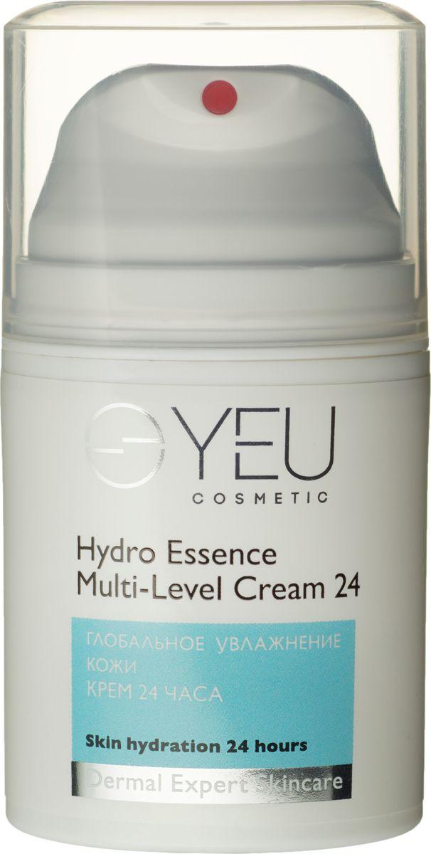 YEU Cosmetic Крем 24 часа Глобальное увлажнение кожи Hydro Essence Multi-Level Cream 24, 50 мл0221Незаменимый освежающий крем ежедневного применения на основе гиалуроновой кислоты действует в самых глубоких слоях кожи, обеспечивая идеальное увлажнение на 24 часа. Революционный комплекс био-ретинол Lanablue™ оказывает мгновенное увлажняющее, тонизирующее действие, обеспечивая лифтинг-эффект, реконструируя рельеф кожи, уменьшая проявления мимических линий. Комплекс Moist 24 работает на клеточном уровне, гарантируя эластичность и молодость тканей, поддерживает тонус, свежесть и красоту Вашей кожи.