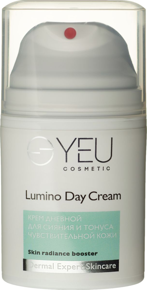 YEU Cosmetic Крем дневной для сияния и тонуса чувствительной кожи Lumino Day Cream + C 50 мл0322Роскошный дневной крем на основе миндального масла дарит непревзойденное сияние и красоту Вашей коже. В состав входит мощнейший осветляющий комплекс арбутина и экстракта корня солодки, помогающие победить сезонную и возрастную пигментацию. Активные компоненты каштана и канадского кипрея снижают чувствительность кожи, уменьшают проявление сосудистого рисунка, обеспечивая ровный тон, видимо улучшая общее состояние кожи.