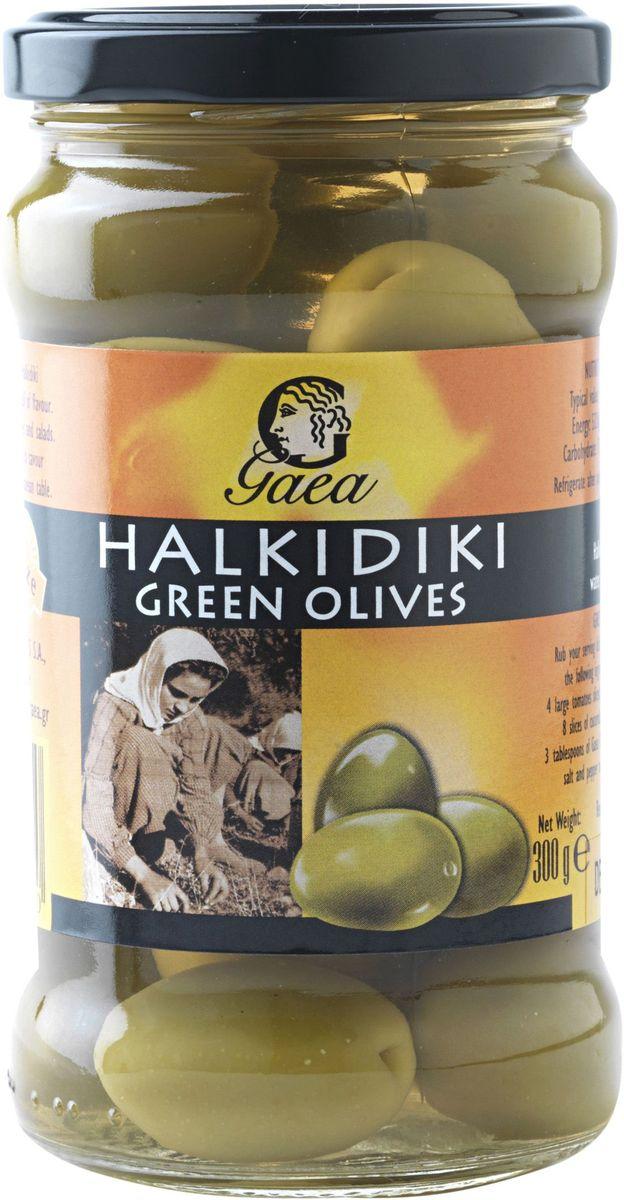 GAEA Оливки зеленые халкидики, 300 г gaea оливки каламата 300 г