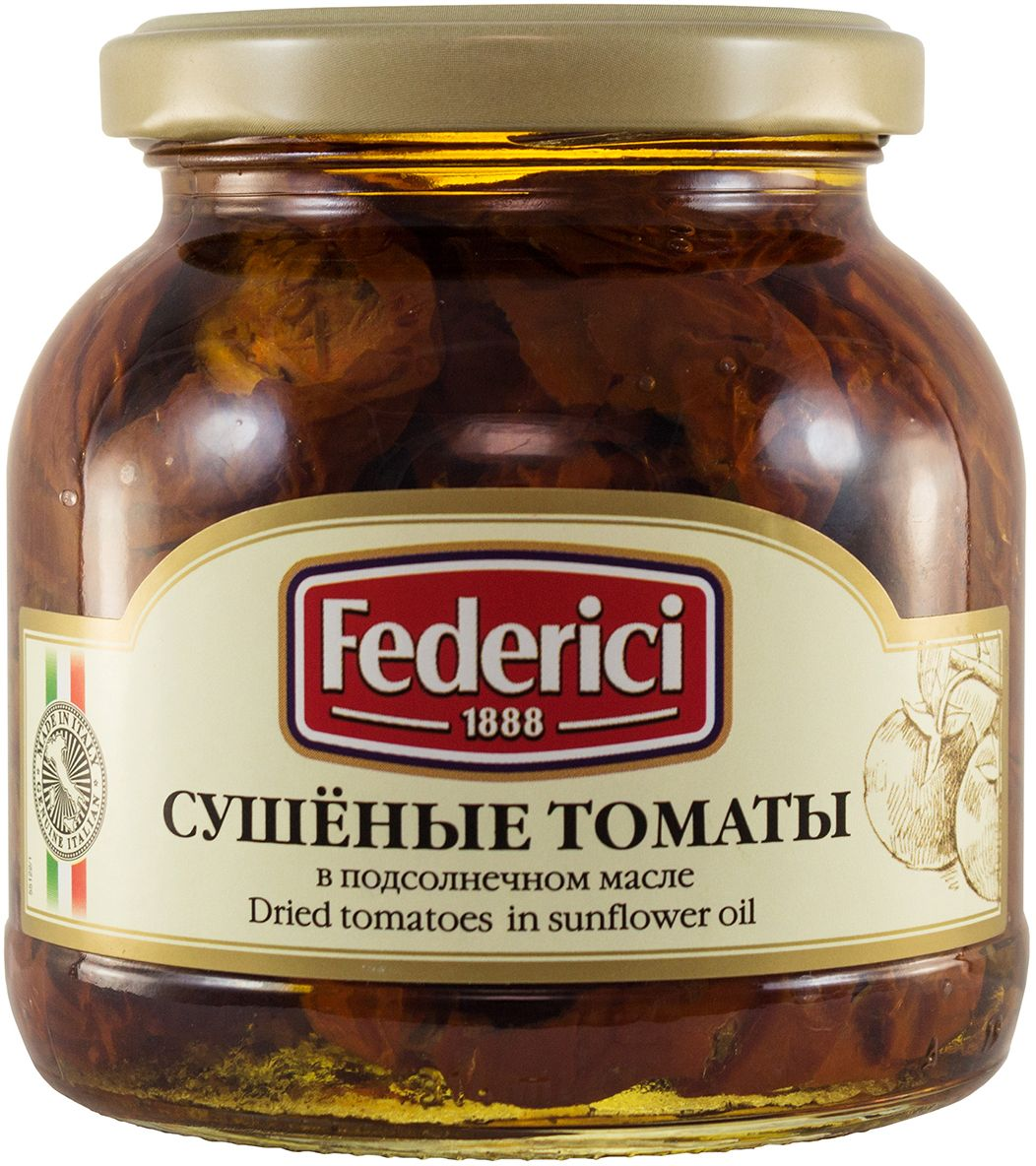 Federici Сушеные томаты в подсолнечном масле, 280 г federici spaghetti спагетти 500 г