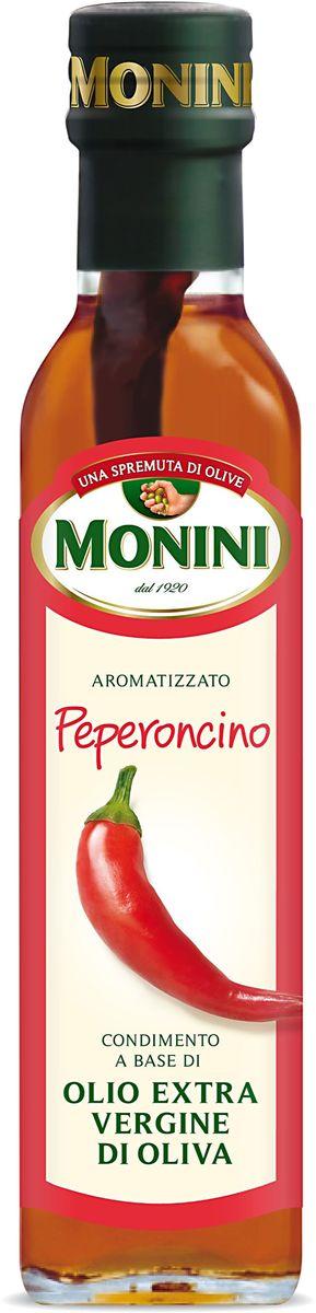 Monini масло оливковое Extra Virgin Красный острый перец, 250 мл1610018Масло оливковое MONINI с красным острым перцем Еxtra virgin – полезный полностью натуральный продукт, не подвергнутый химическим процессам. Нерафинированное оливковое масло экстра класса станет прекрасной заправкой для зеленых салатов, основной для изысканных соусов и маринадов, а также других вкусных и полезных блюд средиземноморской кухни. Оливковое масло обладает экстраординарными оздоровительными свойствами, идеально подходит для приверженцев правильного питания.