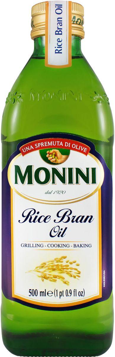 Monini масло рисовое, 500 мл1610035Рисовое масло обладает особенно изысканным вкусом и ароматом. Являясь источником гамма-оризанола, имеющего свойства антиоксиданта, а также большого количества витамина Е, оно богато мононенасыщенными жирными кислотами, помогающими поддерживать уровень холестерина в норме.
