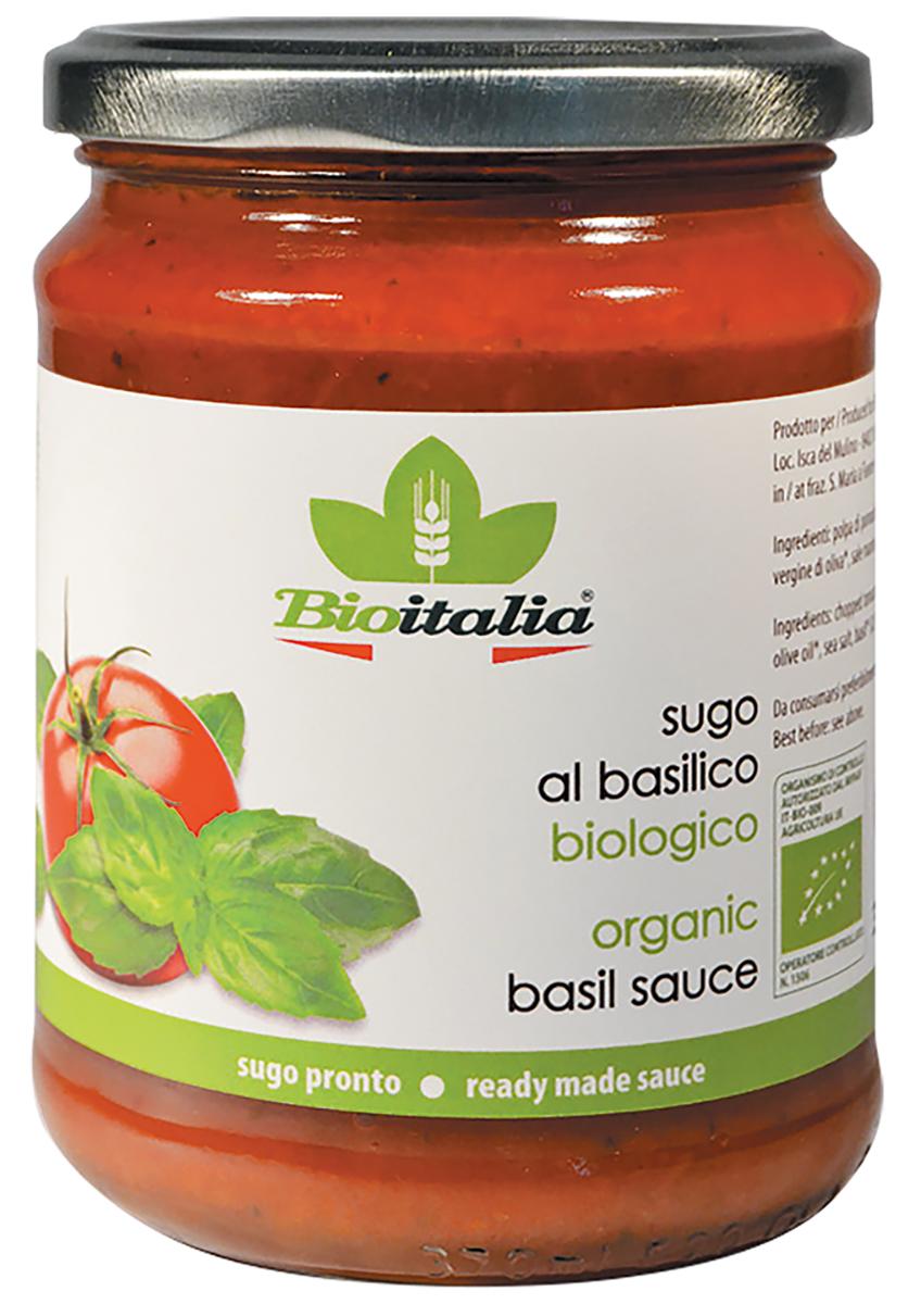 Bioitalia соус томатный с базиликом, 350 г стебель бамбука соус чили blanco 300 г