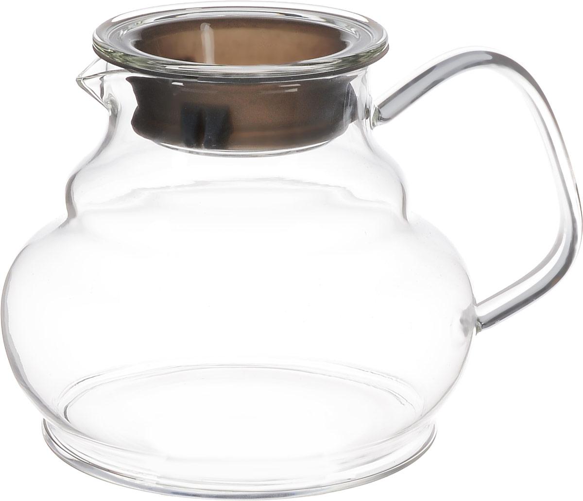 """Заварочный чайник Hunan Provincial """"Мори"""" изготовлен из стекла. Этот чайник радует глаз своей оригинальной формой. Удобная ручка позволяет крепко держать чайник в руке. Крышка с силиконовой вставкой уберегает от ожогов. Диаметр чайника (по верхнему краю): 7,5 см. Высота чайника (без крышки): 11 см."""