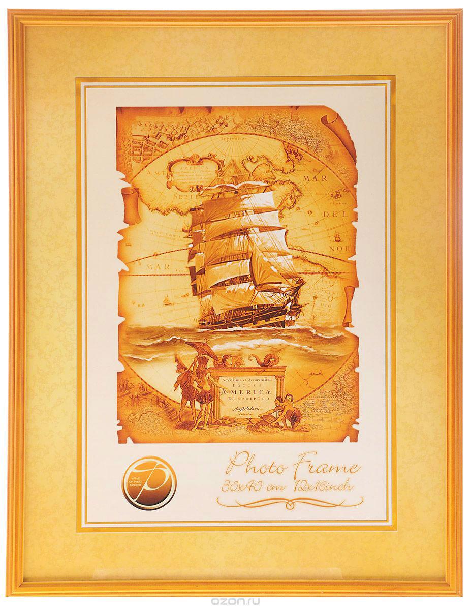 Фоторамка Pioneer Linda, цвет: светло-коричневый, 30 x 40 см фоторамка pioneer poster silver для фото 40 x 50 см