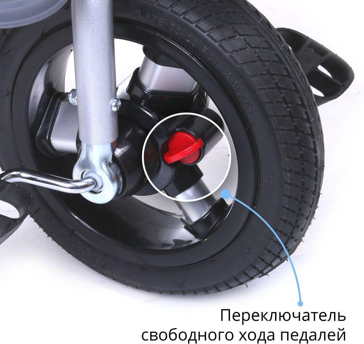 """Трехколесный велосипед Micio """"Comfort"""" будет расти вместе с ребенком. Комфорт пассажиру обеспечивает сиденье с широкой спинкой и возможностью наклона до положения полулежа, а защиту - раздвижная дуга и трехточечный ремень безопасности. Складной тент колясочного типа оградит малыша от солнца и дождя.Обратите внимание на правильную установку вилки и руля! Наклон вилки должен быть направлен к задним колесам. При некорректной сборке управление велосипедом ухудшается.Особенности: функция свободного хода переднего колеса; функция свободного руля; сиденье с широкой спинкой; два положения установки сиденья; плавная регулировка спинки до положения полулежа; стояночный тормоз; складная подножка; дополнительная подставка для ног; складной тент колясочного типа; регулируемая ручка-толкатель колясочного типа; управление колесом механически не связано с ручкой и осуществляется по аналогии с продуктовой тележкой; раздвижная дуга безопасности с мягкими подлокотниками; мягкий вкладыш-кенгуру на сиденье; трехточечный ремень безопасности; корзина; звонок."""