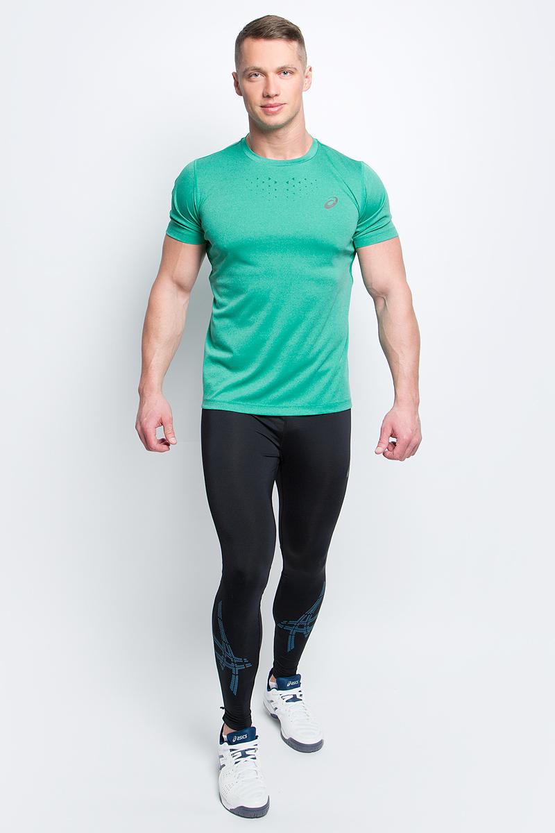 Футболка для бега мужская Asics Stride SS Top, цвет: зеленый. 141198-5013. Размер M (48/50)141198-5013Мужская футболка Asics выполнена из эластичного полиэстера.У модели классический круглый ворот и короткие стандартные рукава. Изделие оформлено дышащими вставками и дополнено светоотражающими деталями. Технология Motion Dry позволяет выводить влагу, оставляя тело сухим и сохраняя его оптимальный температурный режим.