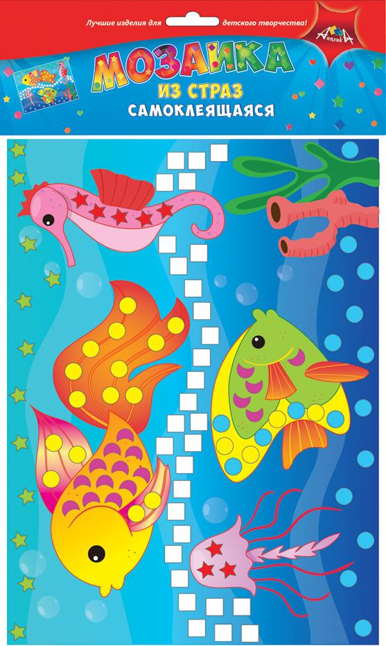 Апплика Мозаика Рыбки мозаика апплика мозаика голографическая формат а6 кот