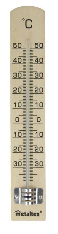 Термометр садовый Metaltex, высота 18 см29.80.05Термометр Metaltex выполнен из дерева и оснащен шкалой с крупными цифрами с температурным диапазоном от -30°С до +50°С. Он предназначен для измерения температуры воздуха в помещении или на улице.Экологически безопасный термометр - не содержит ртуть.