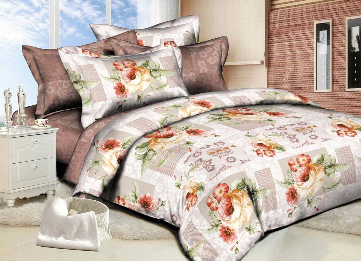 Комплект белья Amore Mio Rose, 1,5-спальный, наволочки 70x7082862Комплект постельного белья Amore Mio является экологически безопасным для всей семьи, так как выполнен из сатина (100% хлопок). Постельное белье оформлено оригинальным рисунком и имеет изысканный внешний вид. Сатин - это ткань сатинового (атласного) переплетения нитей. Имеет гладкую, шелковистую лицевую поверхность, на которой преобладают уточные нити (уток - горизонтально расположенные в тканом полотне нити). Сатин изготавливается из крученой хлопковой нити двойного плетения. Он чрезвычайно приятен на ощупь, не электризуется и не скользит по кровати. Сатин прекрасно сохраняет форму и не мнется, отлично пропускает воздух, что позволяет телу дышать и дарит здоровый и комфортный сон.Комплект состоит из пододеяльника, простыни и двух наволочек.