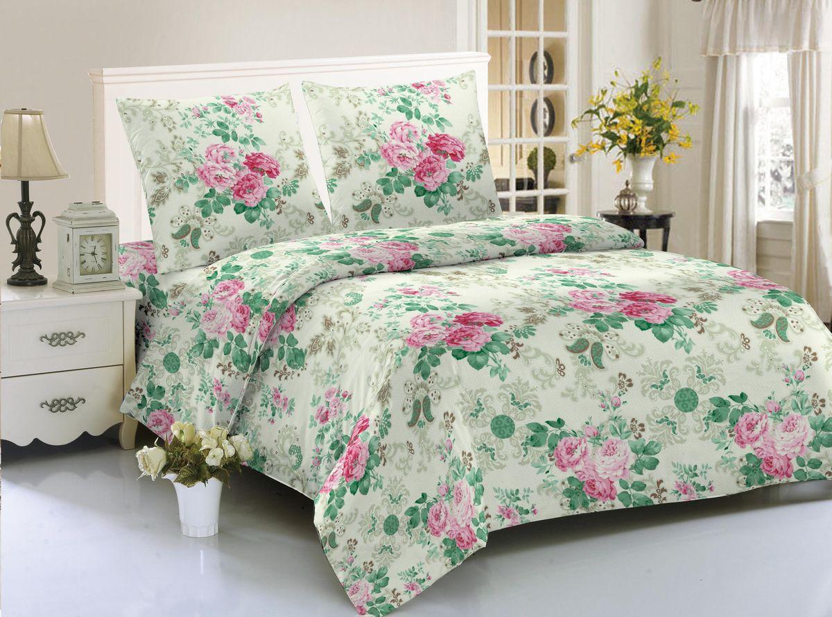 Комплект белья Amore Mio Geneva, 1,5-спальный, наволочки 70x70 комплект семейного белья василиса нежная роза 4172 1 70x70 c рб