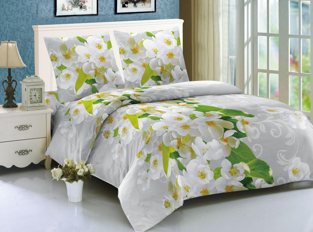 Комплект белья Amore Mio Hamburg, 1,5-спальный, наволочки 70x70 комплект семейного белья василиса нежная роза 4172 1 70x70 c рб