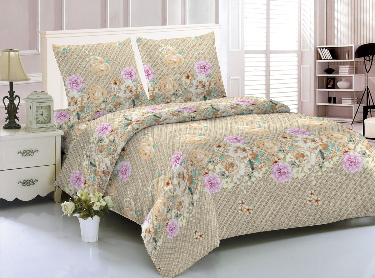 Комплект белья Amore Mio Milan, 1,5-спальный, наволочки 70x70 комплект семейного белья василиса нежная роза 4172 1 70x70 c рб