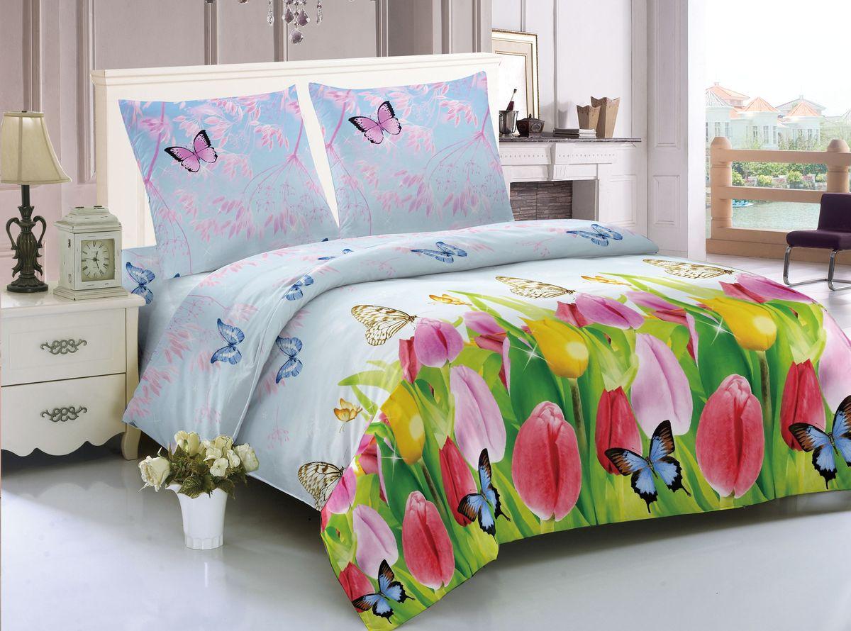 Комплект белья Amore Mio Liverpool, 2-спальный, наволочки 70x70 комплект семейного белья василиса нежная роза 4172 1 70x70 c рб