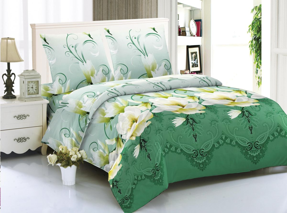 Комплект белья Amore Mio Belgrade, 2-спальный, наволочки 70x70 комплект семейного белья василиса нежная роза 4172 1 70x70 c рб