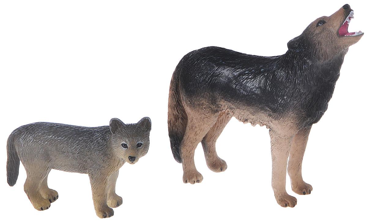 Mojo Набор фигурок Воющий волк и Волчонок