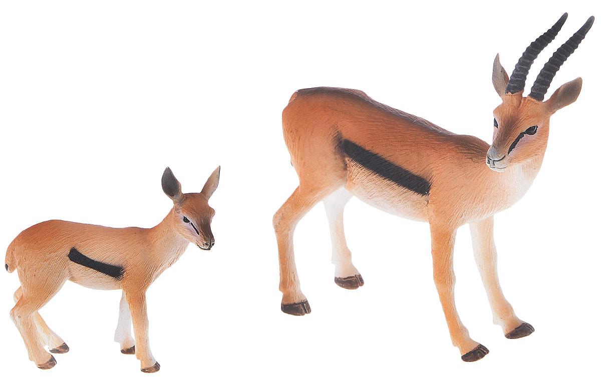 Mojo Набор фигурок Газель Томсона самец и детеныш аукцыон у митьков хвост у митьков