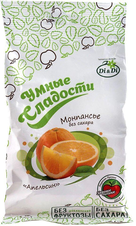 Умные сладости Леденцы без сахара апельсин, 55 г кофейный напиток santafe со сливками 175мл