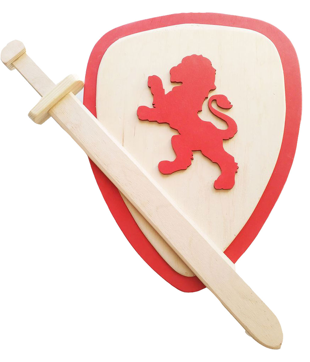 Master Wood Щит и меч цвет красный
