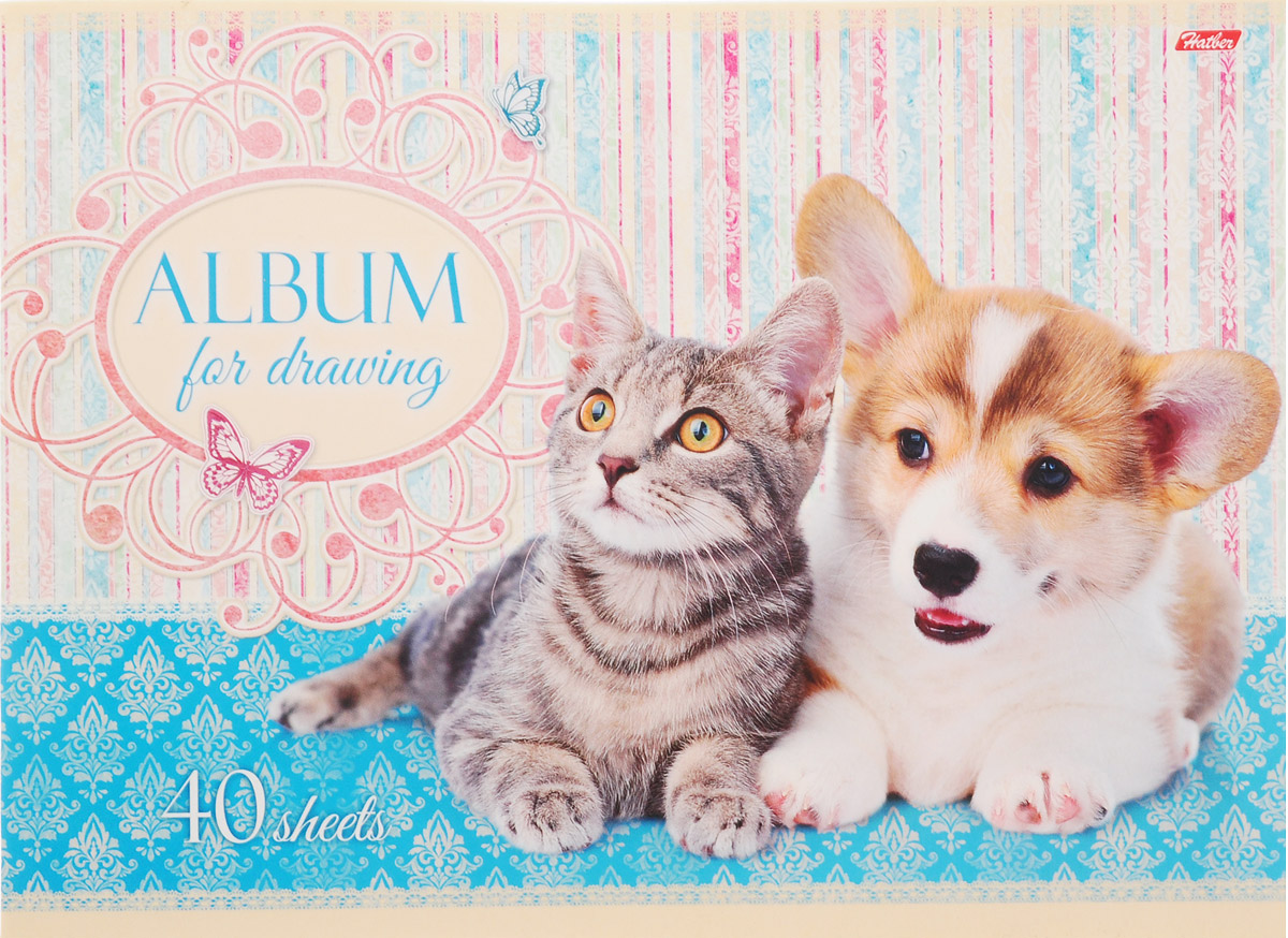Hatber Альбом для рисования Маленькие друзья 40 листов 16265 hatber альбом для рисования райский сад 40 листов 14397