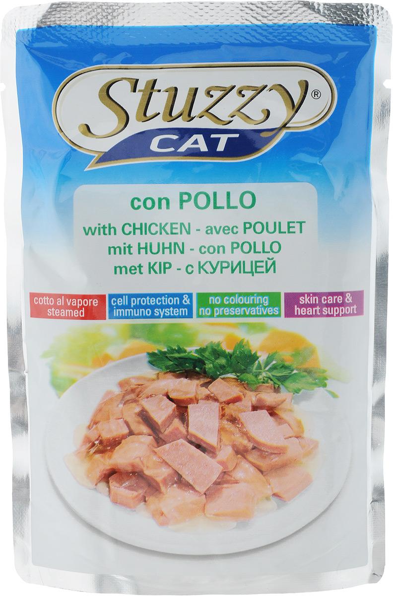 Консервы Stuzzy Cat, для взрослых кошек, с курицей, 100 г консервы для кошек stuzzy stuzzy cat курица в желе 100 г